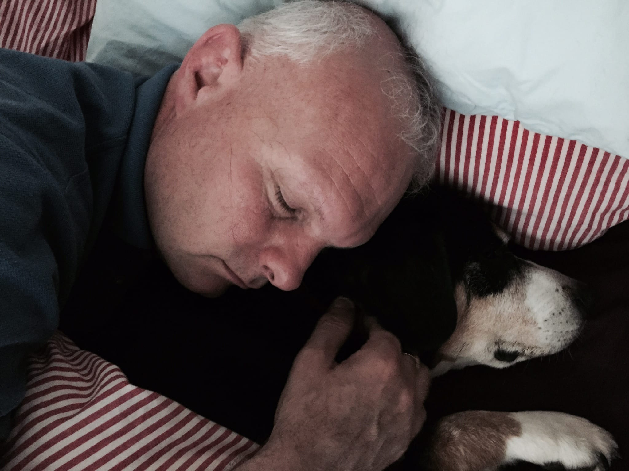 Me and my Master having a lie in